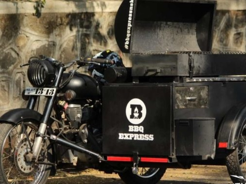 Called The Bullet Barbeque, This Royal Enfield Loves Its Grilled Meat