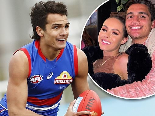Mia Fevola's AFL star boyfriend Jamarra Ugle-Hagan signs on with Western Bulldogs for two more years