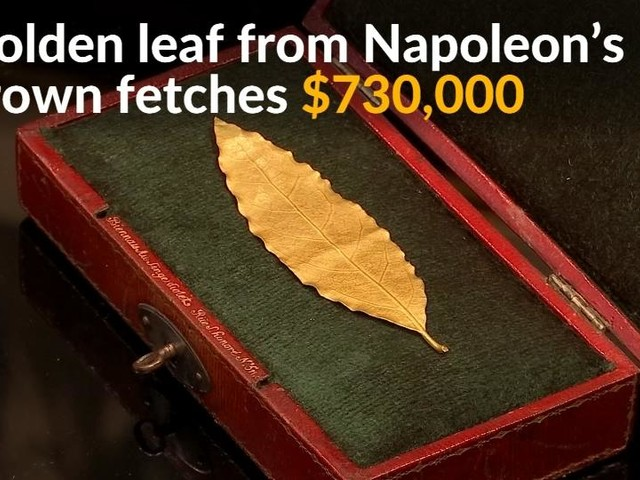 Golden leaf from Napoleon's crown fetches £550k