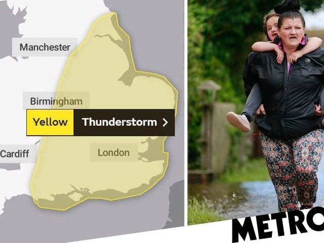 England to be gripped by thunder and lightning as wet weather refuses to budge