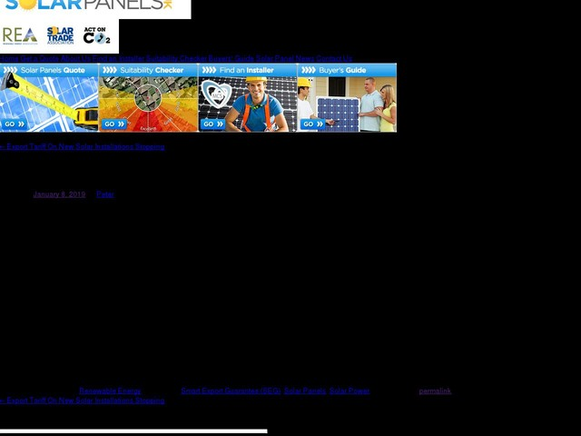Government Consults On Smart Export Guarantee (SEG) Scheme