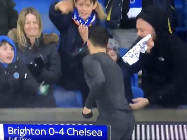 Fans loved Eden Hazard's brilliant gesture following Chelsea's rampant victory over Brighton