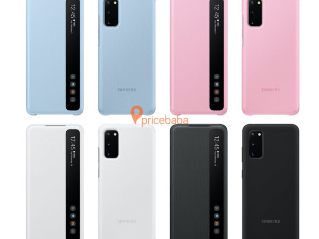 Official Samsung Galaxy S20 cases leak with S-View cover lifted from Note 10