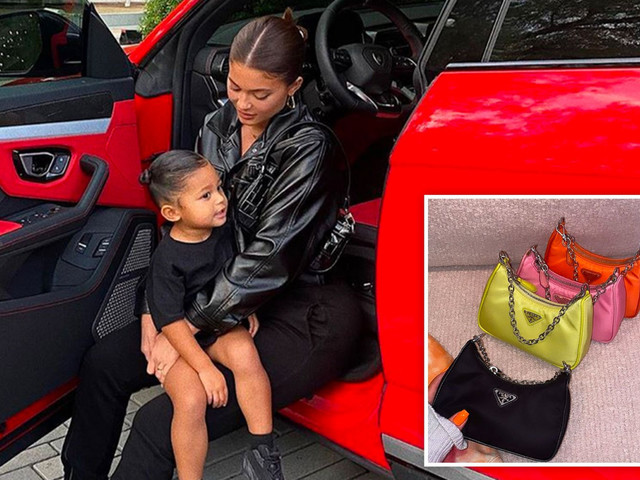 Kylie Jenner buys daughter Stormi, 2, FOUR baby Prada bags after splashing out on a $1,180 Louis Vuitton mini handbag