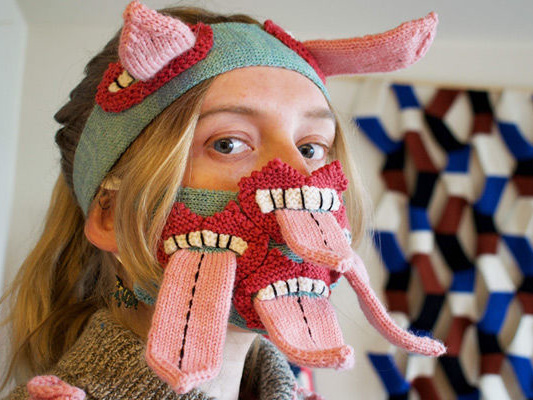 Extravagant Knit Face Masks - Yr Johannsdottir Encourages Physical Distancing with a Special Design (TrendHunter.com)