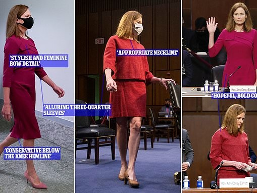 Amy Coney Barrett dresses to impress women at Supreme Court hearings