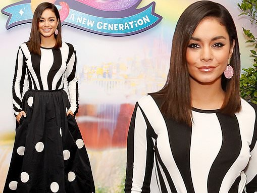 Vanessa Hudgens is a polka dot princess at photo-call for her new My Little Pony film