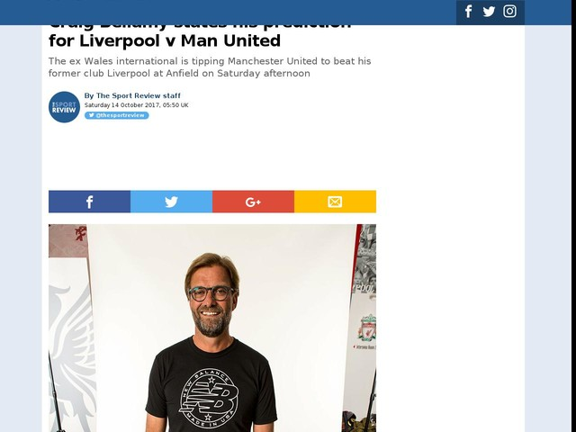 Craig Bellamy states his prediction for Liverpool v Man United