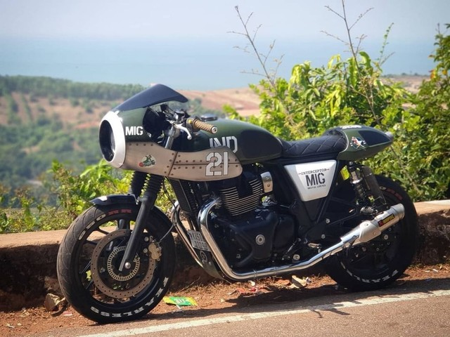 Check Out This MiG-21 Inspired Custom Royal Enfield Interceptor 650