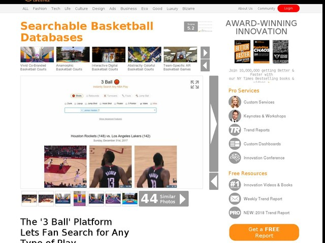 Searchable Basketball Databases - The '3 Ball' Platform Lets Fan Search for Any Type of Play (TrendHunter.com)