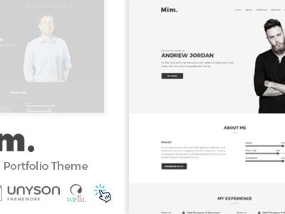Mim - Personal Portfolio WordPress Theme (Portfolio)