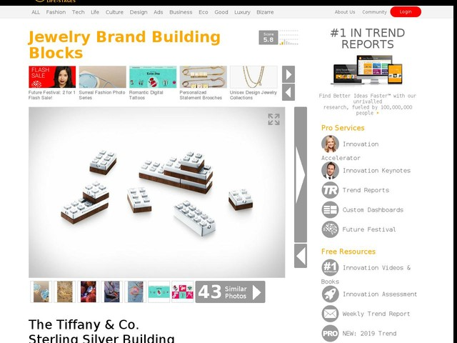 Jewelry Brand Building Blocks - The Tiffany & Co. Sterling Silver Building Blocks are Exclusive (TrendHunter.com)