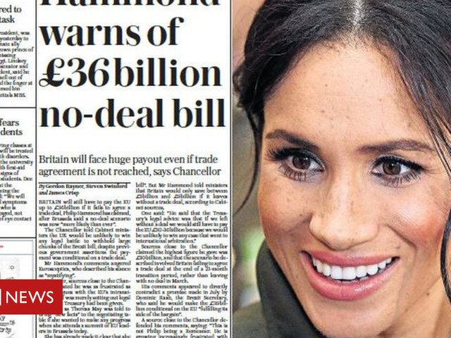 The papers: £36bn no-deal bill and Ant's 'intolerable' marriage