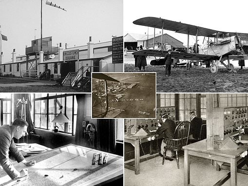 Fascinating archive pictures of the first-ever air traffic control tower in Croydon