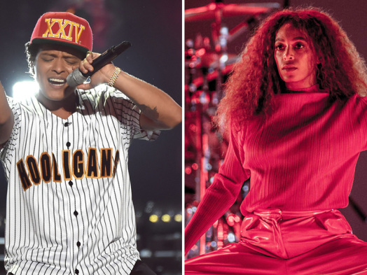 Solange, Bruno Mars Lead BET Soul Train Award Nominees