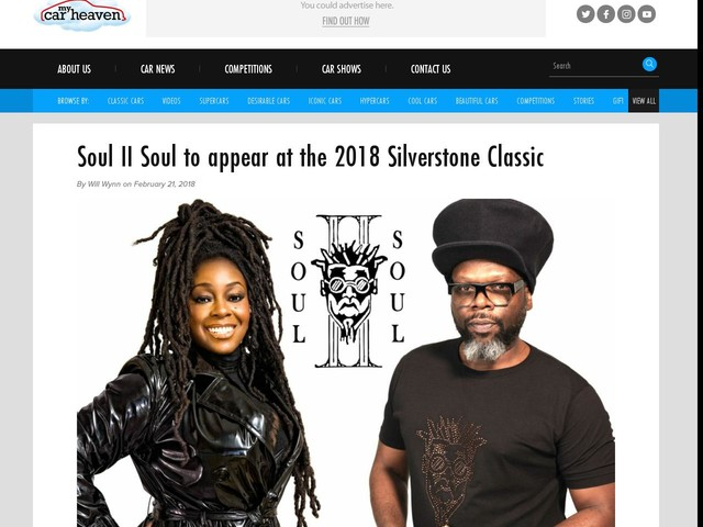Soul II Soul to appear at the 2018 Silverstone Classic