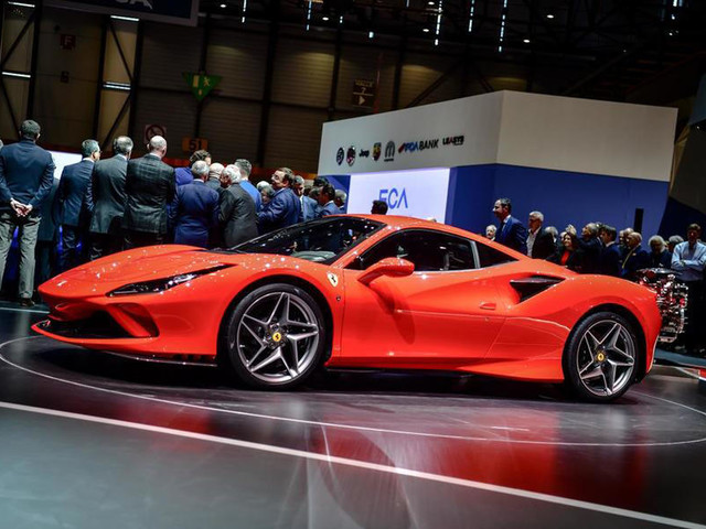 Ferrari F8 Tributo showcased at the 2019 Geneva motor show