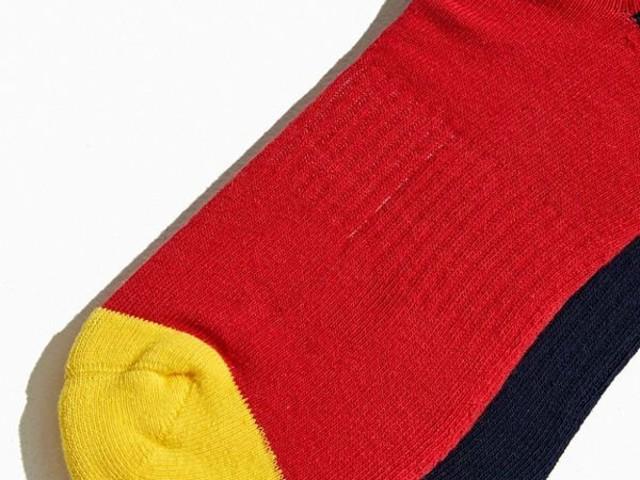 Vintage-Inspired Colorblock Socks - The Polo Ralph Lauren Mismatch Colorblock Crew Socks are Dynamic (TrendHunter.com)