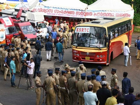 Police Lathicharge Protesters At Nilakkal Near Sabarimala, 50 Detained