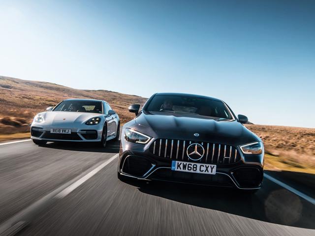Four-seater super-GT twin test: Porsche Panamera vs Mercedes-AMG GT 63