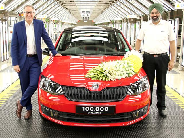 Skoda Rapid crosses 1 lakh production milestone