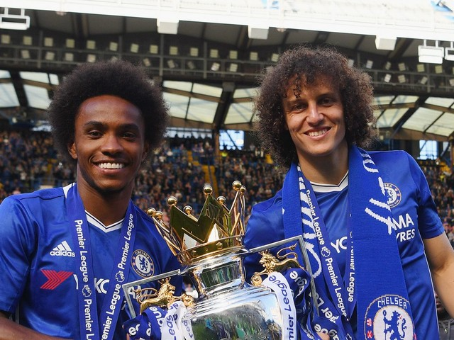 David Luiz and Willian reflect on dream Premier League title, national team call-ups