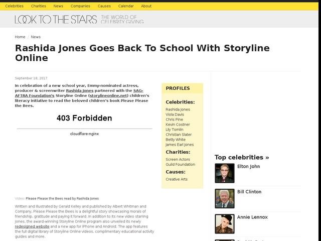 Rashida Jones Goes Back To School With Storyline Online
