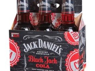 Bottled Whiskey Cola Cocktails - Jack Daniel's Black Jack Cola is the Perfect Summer Sipper (TrendHunter.com)