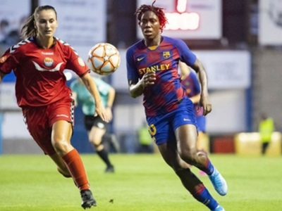 Oshoala outshines Ogbiagbevha as Barcelona thrash Minsk in Women's Champions League