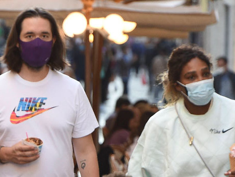 Serena Williams & Daughter Olympia, 3, Twin In Pink Sneakers On Gelato Date In Rome — See Pics