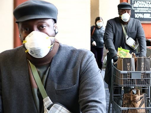 will.i.am wears medical grade facemask as he stocks up on essentials in LA amid coronavirus pandemic