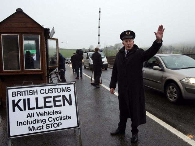 A hard Brexit Irish border would make border guards a 'target' for terrorists