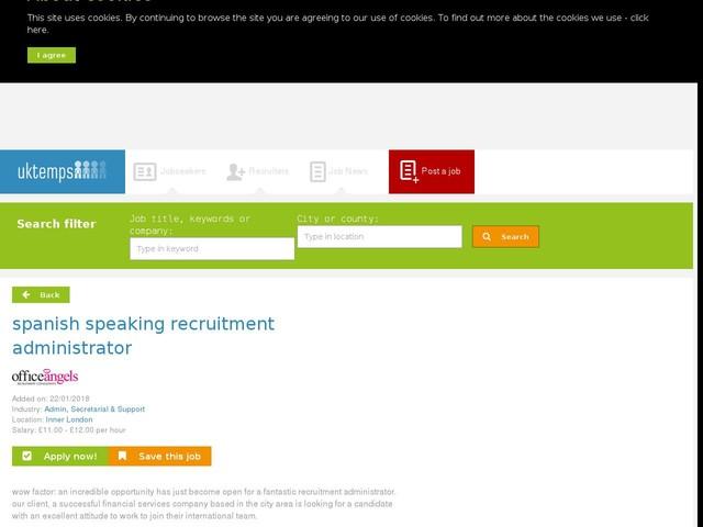 spanish speaking recruitment administrator
