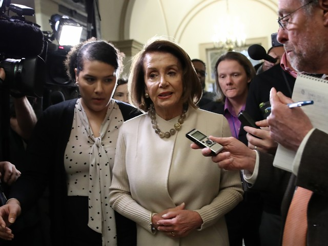 Nancy Pelosi declined to rule out border-wall funding after Trump announced shutdown deal