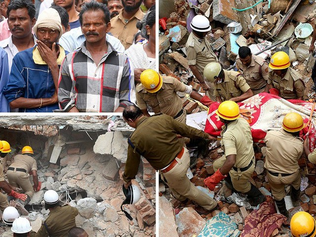 At least seven dead after explosion at block of flats in Bangalore