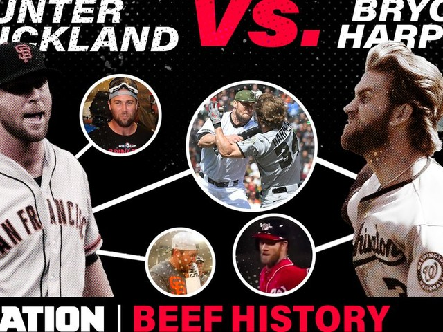 The Bryce Harper-Hunter Strickland beef went dormant for 3 years, then exploded into a famous brawl