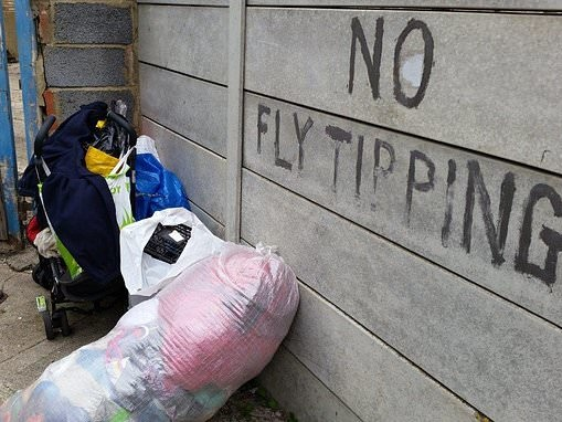 One million cases of fly-tipping were reported in the UK last year