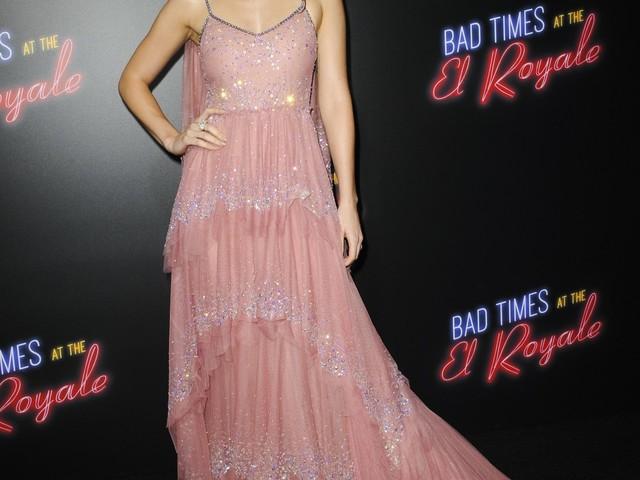 Dakota Johnson in pink Gucci at the LA 'El Royale' premiere: twee or lovely?