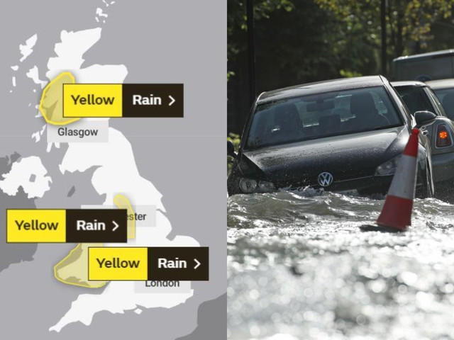 UK weather forecast – Met Office issue 'severe' flood warnings today as heavy rain is set to spark travel chaos