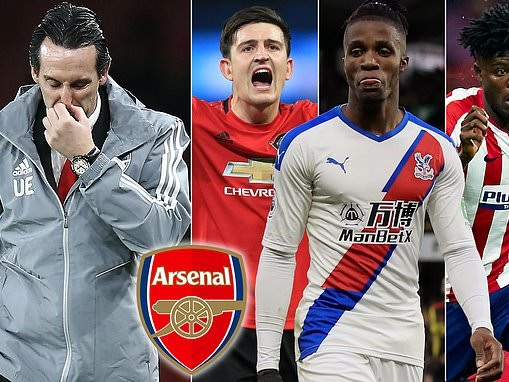 Former Arsenal manager Unai Emery wanted to sign Harry Maguire, Wilfried Zaha and Thomas Partey