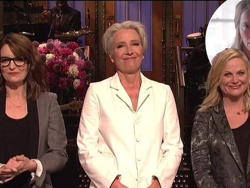 Saturday Night Live: Emma Thompson joins Tina Fey and Amy Poehler to translate for Mother's Day