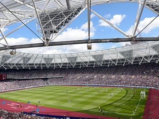 West Ham reveal new claret pitch-side covering at the London Stadium