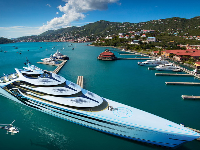 574-foot Acionna Mega-Yacht Dwarves Ports, Towns, and Will Be Hydrogen-Powered
