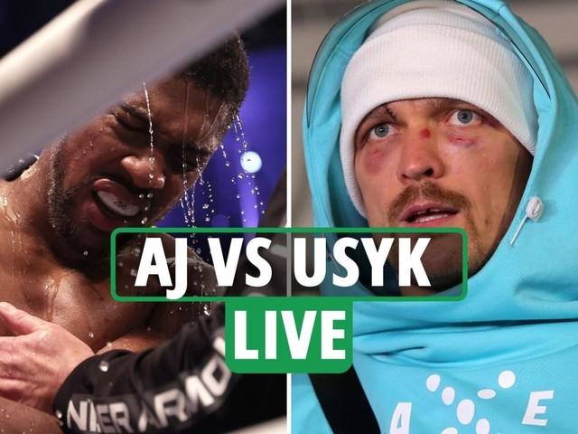 Anthony Joshua vs Oleksandr Usyk LIVE REACTION: Rematch LATEST, AJ suffers eye socket injury, Usyk home – latest