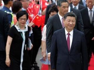 China's Xi marks Hong Kong anniversary as protests planned