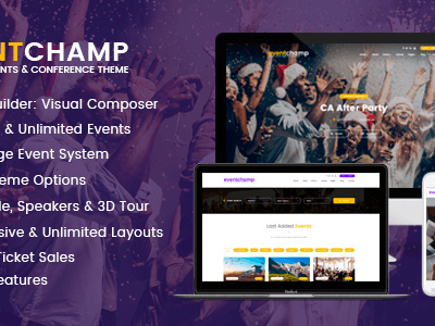 Eventchamp – Multiple Event & Conference WordPress Theme (Events)