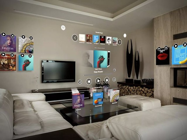 Music-Streaming AR Apps - Spotify's Magic Leap App Lets Users Virtually Pin Music on Walls (TrendHunter.com)