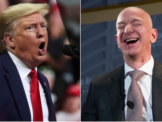 Trump just joined Amazon's video game streaming site Twitch, even though he has major beef with Jeff Bezos (AMZN)