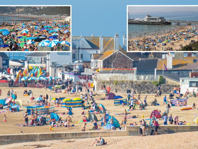 UK weather – Brits hit the beach as UK basks in hottest EVER August Bank Holiday and Met Office warns people to stay out of 32C sun