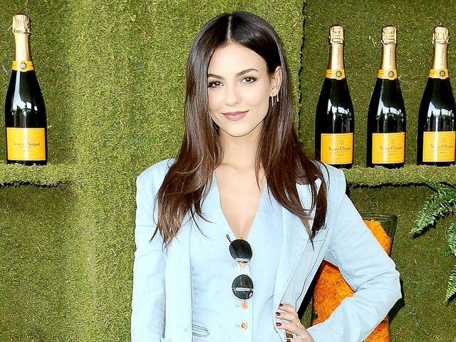 Victoria Justice Rocked a Modern Canadian Tuxedo to the Veuve Clicquot Polo Classic in L.A.